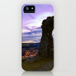Town on the edge of forever iPhone Case