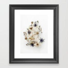Dead flowers on coral Framed Art Print