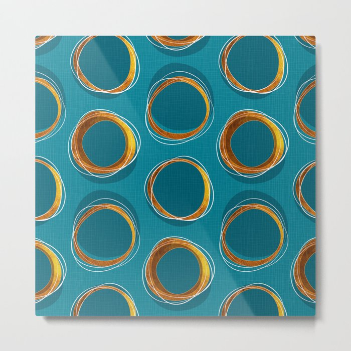Solar Eclipse MCM Gold-Blue Metal Print