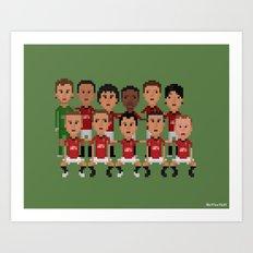 Manchester United 2013 (squad) Art Print