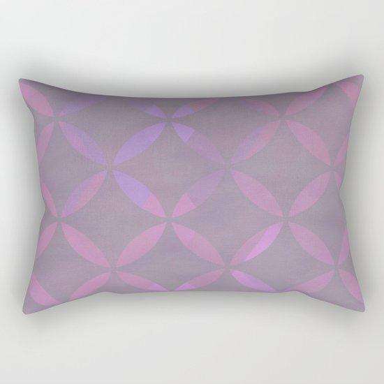 Round Pink Grey Pattern Rectangular Pillow