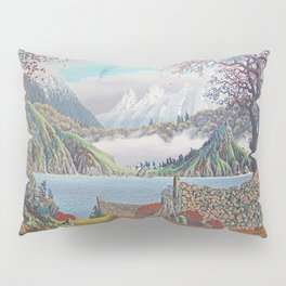 HOME ON THE NORTHWEST COAST OIL PAINTING Pillow Sham