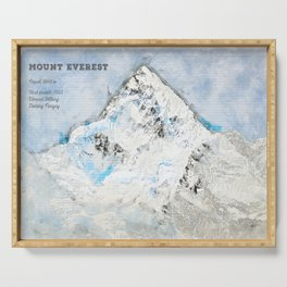 Mount Everest, Nepal Asia Serving Tray