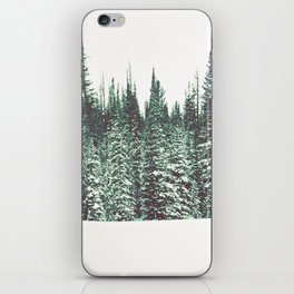 Snow on the Pines iPhone Skin