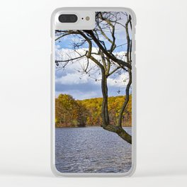 Autumn at Hall Lake by Yankee Springs in Michigan Clear iPhone Case