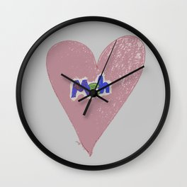 Valentine Sarcasm in grungy colors Wall Clock