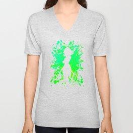 Anime Hero Paint Splatter Inspired Shirt Unisex V-Neck