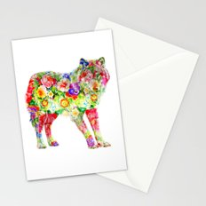 Wolf of Flowers Stationery Cards