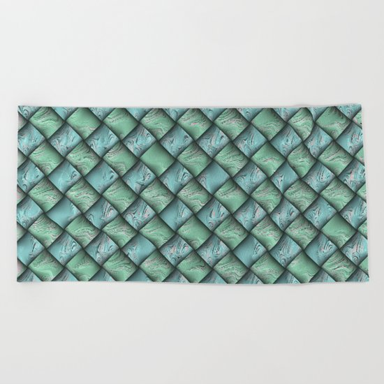 Patchwork Moire Silk Beach Towel