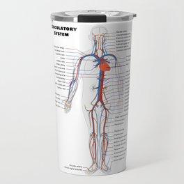 Human Circulatoy System Chart Travel Mug