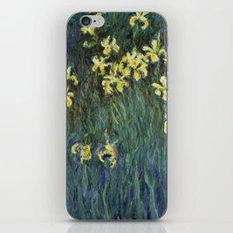 """Claude Monet """"Yellow irises"""" iPhone Skin"""