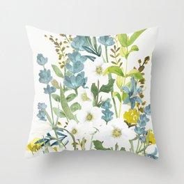 Wildflowers VI Throw Pillow