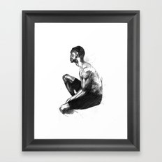 Seated Guy Framed Art Print
