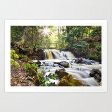 Upper Chapel Falls at Pictured Rocks National Lakeshore - Michigan Art Print