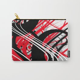 life silver white red black abstract geometric digital painting Carry-All Pouch