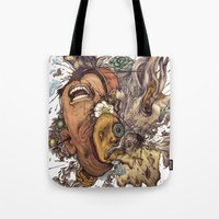 Tote Bags featuring panic color  by Maethawee Chiraphong