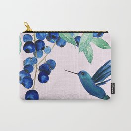 blueberry and humming bird Carry-All Pouch
