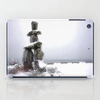 vancouver iPad Cases featuring Inukshuk, Vancouver by Gizem Soker Baturay
