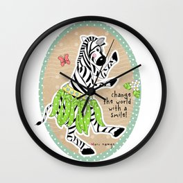 Change the World with a Smile Wall Clock