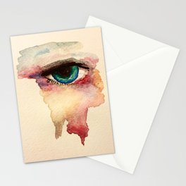 Eye in watercolor Stationery Cards