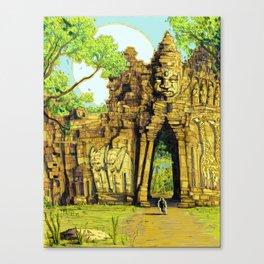 Threshold Guardian - Mythic Fantasy Canvas Print