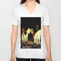baby elephant V-neck T-shirts featuring Baby elephant by nicky2342