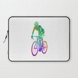 Woman triathlon cycling 05 Laptop Sleeve