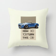 The Classic Game Cheat Code: How do you turn this on Funny Blue Cobra Car Throw Pillow
