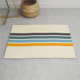 Vintage Retro Stripes Rug
