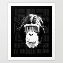 Barcode ape Art Print