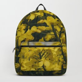 Upclose view of the Rapeseed flower! Backpack