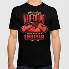 Neo-Tokyo Street Race Champion Black Mens Fitted Tee MEDIUM