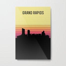 Grand Rapids Skyline Metal Print
