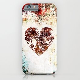 Vintage Heart Abstract Design iPhone Case