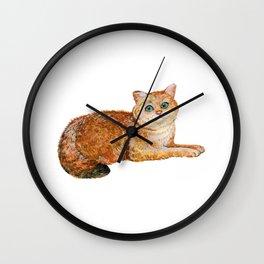 Cat, Cat Print, Decor Kitty, Animal Art, Little Kitten, Kitten Art, Simple Art Wall Clock