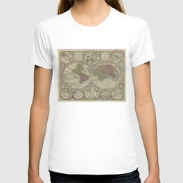 Vintage Map of The World (1730) 2 T-shirt