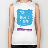 train Biker Tanks featuring TRAIN by Alberto Lamote de Grignon