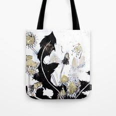 Gold Dandelions Tote Bag