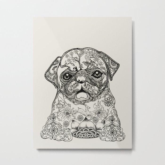 Persian Pug Metal Print