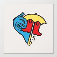 himym Canvas Prints featuring Hey Beautiful by Reg Lapid