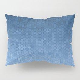 Blue Hexagons Pillow Sham
