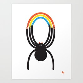 Spiders Are Rainbows Art Print