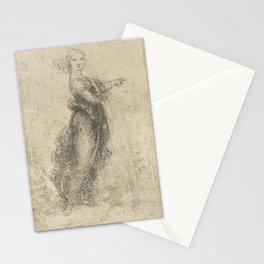 Woman - Leonardo Da Vinci Stationery Cards