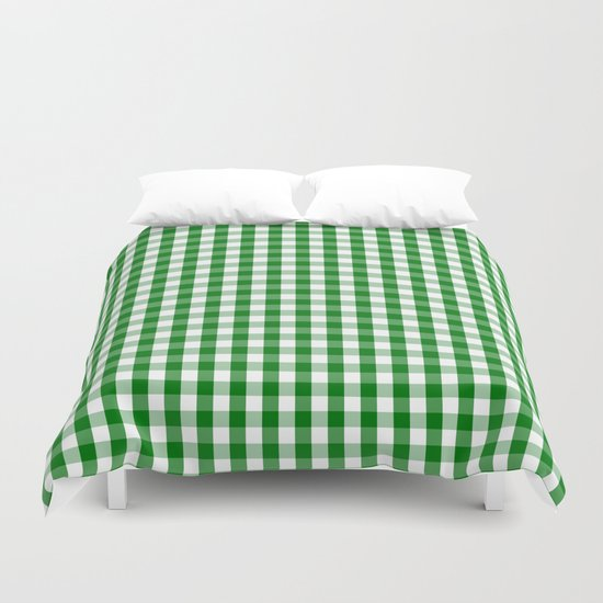 Christmas Green Gingham Check by podartist