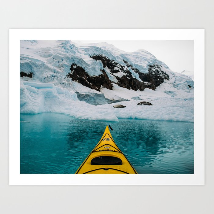 Glacial Waters and Crabeaters Art Print