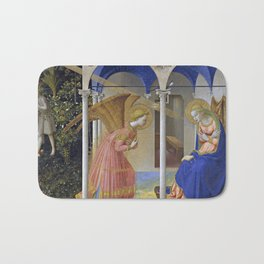 """Fra Angelico,"""" The Annunciation """" Bath Mat"""