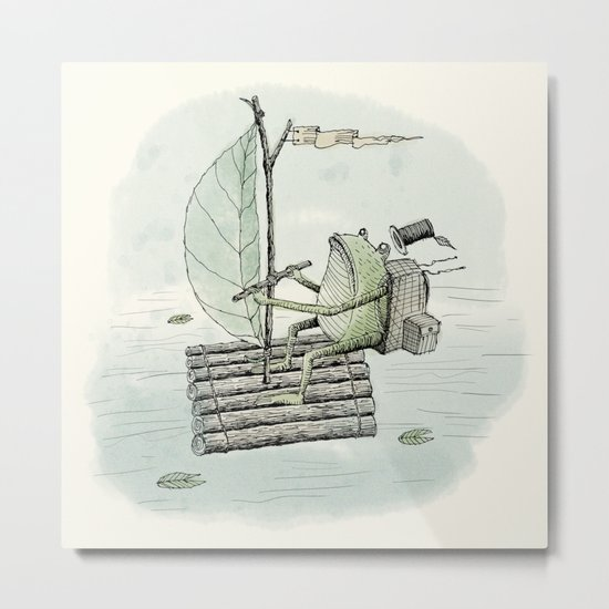 'Raft' (Colour) Metal Print