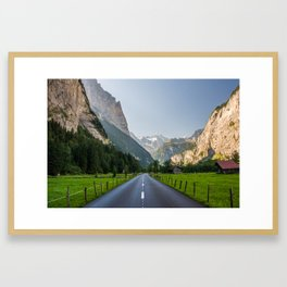 The Road We Travel By Framed Art Print