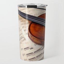 Violin music and notation Travel Mug