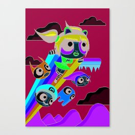 The Power Nyan Girl Canvas Print